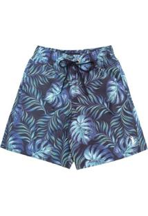 Shorts Seaweed Aleatory Masculino - Masculino-Azul