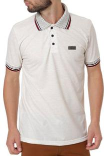 Polo Manga Curta Masculina Full Surf Off White