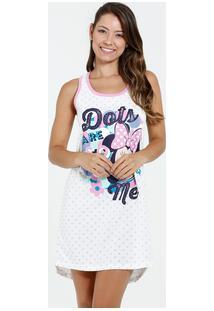 Camisola Feminina Nadador Estampa Bolinhas Minnie Disney