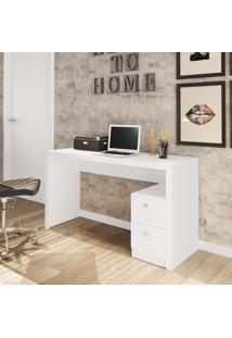 Escrivaninha Com 2 Gavetas Me4130 Tecno Mobili Branco