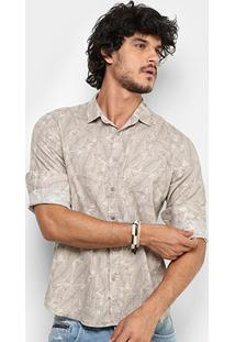Camisa Pacific Blue Folhagem Masculina - Masculino