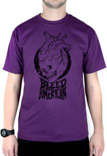 Camiseta Bleed American Medusa Roxo