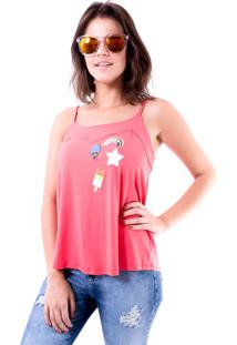 Blusa Gup'S Jeans Patches Pink