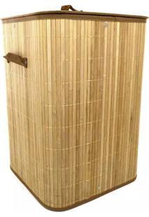 Cesto Para Roupas Le Bamboo 35X35X50Cm