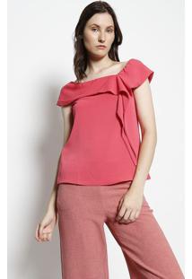 Blusa Ciganinha Com Amarração - Rosa Escuromoiselle