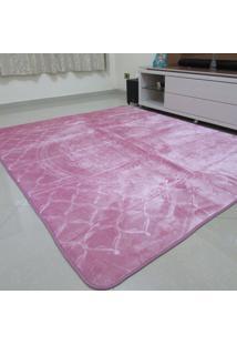 Tapete Aveludado 3D Estampado Rosê 2,00Mx2,50M Home Textil