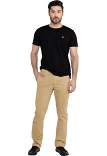 Calça Em Sarja Bolso-Faca Latifundio Jeans - Mostarda