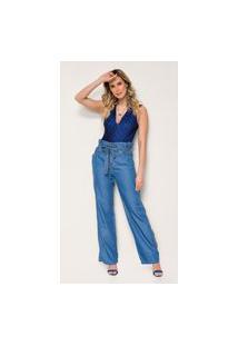 Calça Jeans Express Clochard Estrela Azul