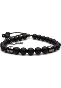 Pulseira Key Design Arnold - Black Series Preta
