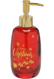 """Porta Sabonete """"Merry Christmas""""- Vermelho & Douradomabruk"""