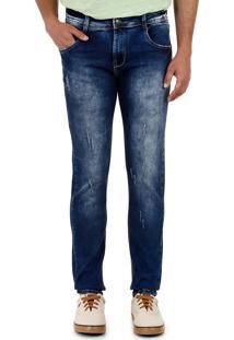Calça Jeans Slim Masculina Sawary