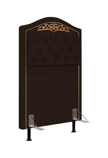Cabeceira Cama Box Solteiro 90Cm Imperial J02 Corano Marrom Escuro - M