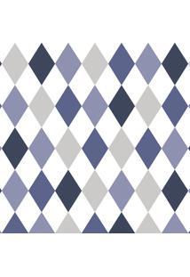 Papel De Parede Lyam Decor Losango Azul