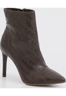 Bota Feminina Ankle Boot Croco Renata Mello