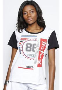 Camiseta ''Enjoy'' - Branca & Vermelha - Coca-Colacoca-Cola