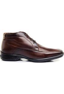 Sapato Social Hb Agabe Cadarço Masculino - Masculino-Marrom
