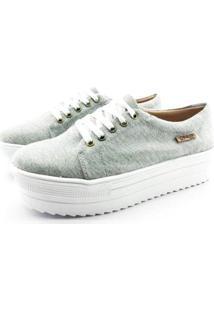 Tênis Flatform Quality Shoes Sola Alta Feminina - Feminino-Cinza