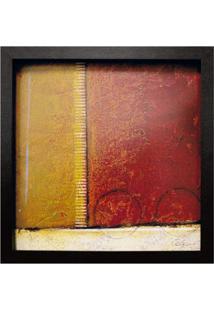 Quadro Caixa Abstrato I Preto 33X33 Cm Kapos