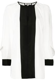 Diane Von Furstenberg Blusa Aime Com Recorte Vazado - Branco