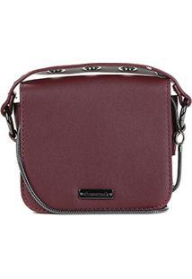 Bolsa Shoestock Mini Bag Tiracolo Metais Feminina - Feminino-Vinho