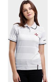 Camisa Polo Feminina Vasco Botões - Feminino