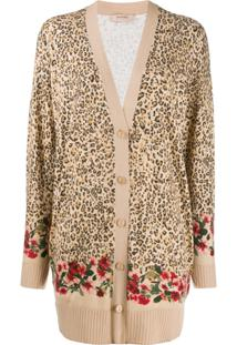 Twin-Set Cardigan Estampado - Neutro