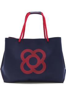 de699238bb ... Bolsa Petite Jolie Logo Azul-Marinho Laranja