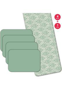 Jogo Americano Love Decor Com Caminho De Mesa Geometric Moderm Kit Com 4 Pçs 1 Trilho
