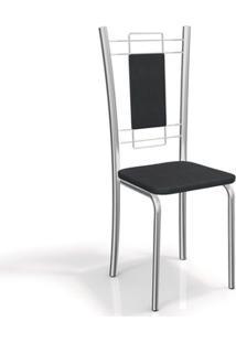 Cadeira Kappesberg Florença 2C005Cr (2 Uni) Cromad/Preto