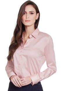 Camisa Social Hidry Principessa Judite Rosê