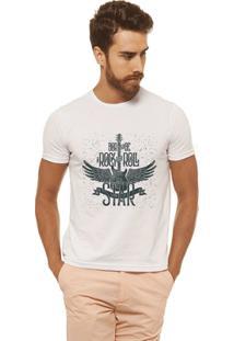 Camiseta Joss - Rock And Roll - Masculina - Masculino-Branco