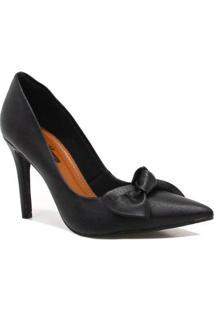 Scarpin Zariff Shoes Laço Feminino - Feminino-Preto
