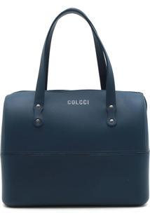 Bolsa Colcci Tachas Azul-Marinho