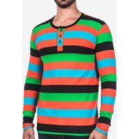Camiseta Hermoso Compadre Henley Masculina - Masculino-Preto 4b79780011978