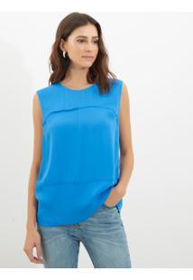Regata Le Lis Blanc Carol Solid 2 Azul Feminina (Fontaine, M)