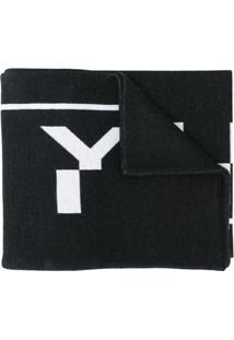 Givenchy Cachecol De Tricô Com Padronagem De Logo - Preto