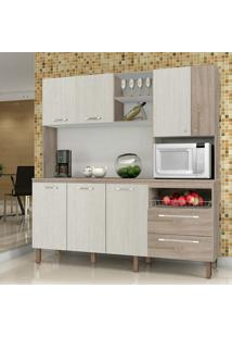 Cozinha Jade C/ Tampo - Kits Paraná - Nogal / Arena