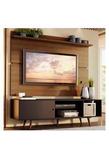 Rack Madesa Dubai E Painel Para Tv Até 65 Polegadas Com Pés - Preto/Rustic 8N5Z Preto