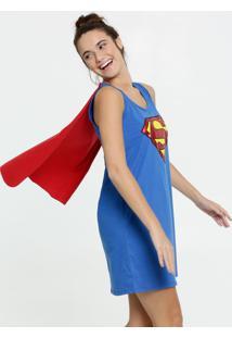 Camisola Feminina Estampa Super Homem Liga Da Justiça