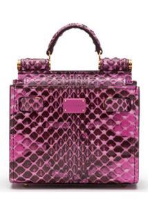 Dolce & Gabbana Bolsa Tote Sicily 58 Micro - Rosa