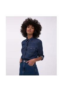 Camisa Jeans Básica | Blue Steel | Azul | G