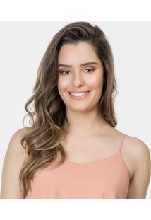 Blusa Com Alças Em Tecido Rosa Silice - Lez A Lez
