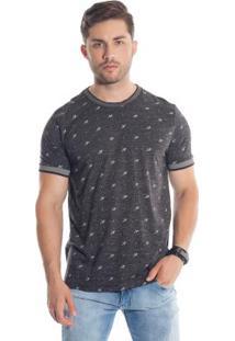 Camiseta Com Micro Estampa Preto Bgo