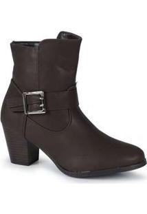 Ankle Boots Feminina Mooncity Salto