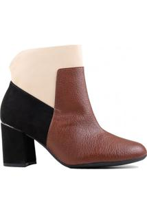 Bota Ankle Boot Piccadilly Cano Curto