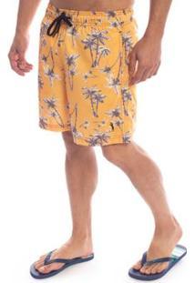 Shorts Aleatory Tree Masculino - Masculino-Laranja