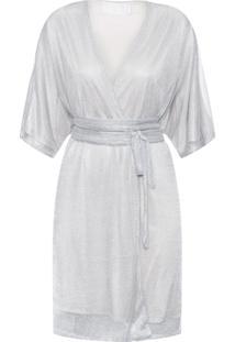 Vestido Kimono Shine - Prata