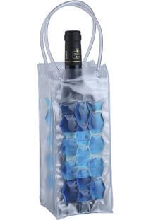 Bolsa Cooler Para Vinho Dynasty Incolor E Azul
