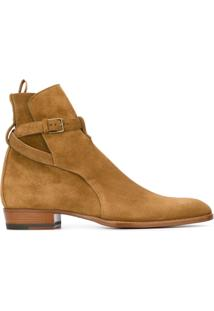 Saint Laurent Ankle Boot Modelo 'Hedi' - Brown