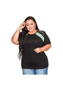 Blusinha Casual Old Store Plus Size Azul